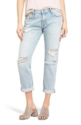 Current Elliott Women's The Fling Destroyed Rolled Jeans