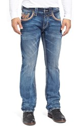 Men's Rock Revival 'Teo Alternative' Straight Leg Jeans Medium Blue