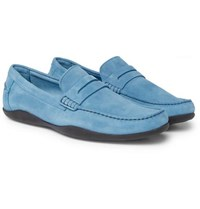 Harry's Of London Basel Suede Penny Loafers Light Blue