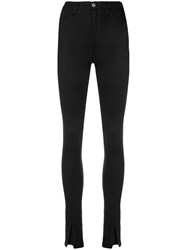 Andrea Ya'aqov Skinny High Waist Pants Black
