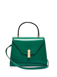 Valextra Iside Mini Leather Bag Green