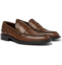 Tod's Leather Penny Loafers Brown