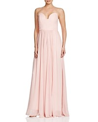 Nicole Miller Sweetheart Neck Strapless Gown Blush