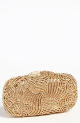 Natasha Couture Tasha 'Crystal Swirl' Clutch Metallic Gold