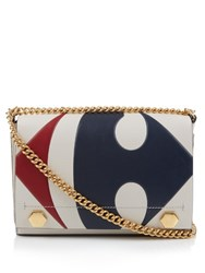 Anya Hindmarch Carrefour Ephson Leather Shoulder Bag Cream Multi