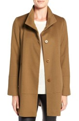 Fleurette Women's Loro Piana Wool Car Coat Vicuna