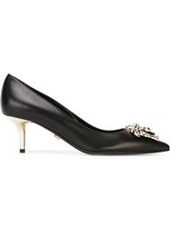 Versace Kitten Heel Pumps Black
