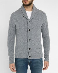 Hartford Mottled Grey Buttoned Wool Cardigan