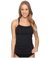 Carve Designs Avalon Tankini Black Aruba Stripe Women's Swimwear