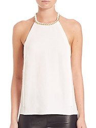 Cooper And Ella Coco Embossed Halter Top White