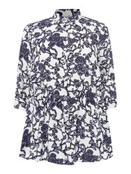 Persona Shirt With Floral Pattern White