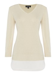 Episode Faux Layer Knit Top Camel