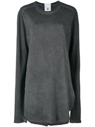 Lost And Found Rooms Mesh Sleeve Tee Grey