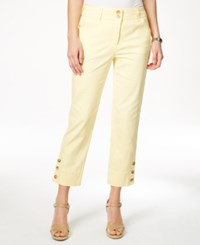 Charter Club Tummy Control Capri Pants Only At Macy's Lemon Tart