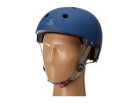 Triple Eight Brainsaver Dual Certified Helmet With Eps Liner Blue Rubber Athletic Sports Equipment