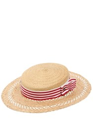 Kreisi Couture Eli Straw Boater Hat