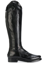 Eleventy Knee High Boots Leather Black