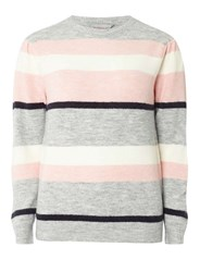 Dorothy Perkins Petite Blush Navy And Ivory Striped Jumper Multi Colour