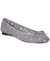 Adrianna Papell Sage Lace Evening Flats Women's Shoes Pewter