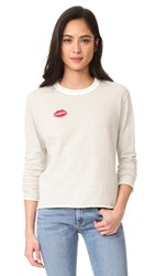 Monrow Kiss Sweatshirt Natural
