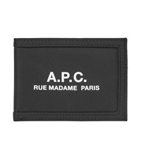 A.P.C. Recuperation Nylon Logo Wallet Black