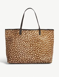 Mystique Amery Animal Print Hair And Leather Tote Deer 2 Light Spots