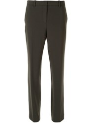Theory Slim Tailored Trousers Green