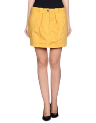 Gold Case Mini Skirts Ocher