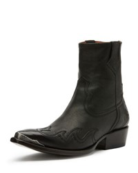 Frye Lou Metal Toe Western Boot Black