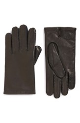 Hickey Freeman Men's Basic Contrast Leather Gloves