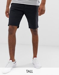 French Connection Tall Slim Fit Peached Cotton Chino Shorts Navy