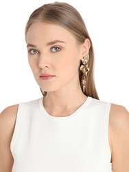 Vittorio Ceccoli Pansy And Spikes Clip On Earrings