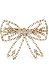 Shourouk Alice Crystal Bow Hair Clip