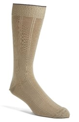 Nordstrom Men's Big And Tall Men's Shop Rib Wool Blend Socks Taupe