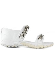 Givenchy Chain Trim Sandals White
