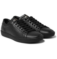 Saint Laurent Sl 01 Court Classic Leather Sneakers Black