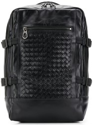 Bottega Veneta Woven Backpack Black
