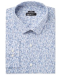 Bar Iii Men's Slim Fit Stretch Max Blue Dandy Floral Dress Shirt Only At Macy's