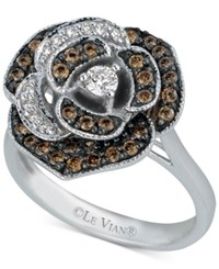 Le Vian Chocolatier Diamond Rose Ring 5 8 Ct. T.W. In 14K White Gold