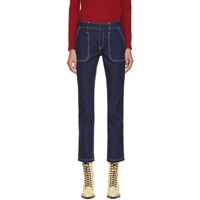 Chloe Blue Large Pocket Jeans