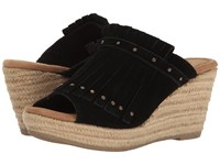 Minnetonka Quinn Black Suede Women's Wedge Shoes