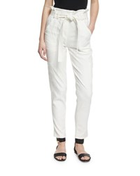 A.L.C. Lee Cropped Paperbag Waist Pants White