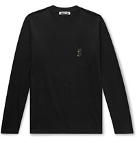 Mcq By Alexander Mcqueen Logo Embroidered Cotton Jersey T Shirt Black