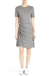 A.L.C. Women's Sally Ruched T Shirt Dress Heather Grey