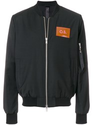 Odeur Oversized Bomber Jacket Black
