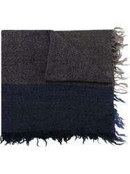 Y's Two Tone Scarf Blue