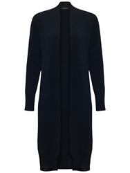 Jaeger Merino Wool Long Line Cardigan Navy