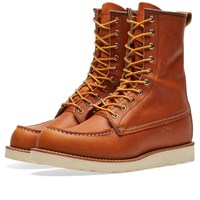Red Wing Shoes 877 Heritage Work 8 Moc Toe Boot Brown