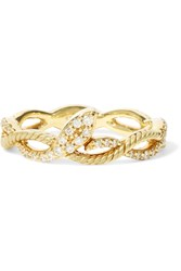 Khai Khai Snake On A Vine Gold Diamond Ring Metallic