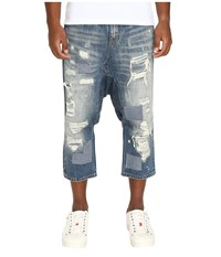 Mostly Heard Rarely Seen Distressed Enzo Drop Crotch Jeans Light Indigo